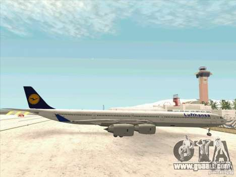Airbus A-340-600 Lufthansa for GTA San Andreas left view