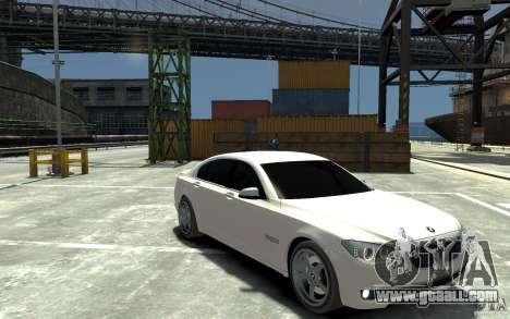 Bmw 750 LI v1.0 for GTA 4 back view
