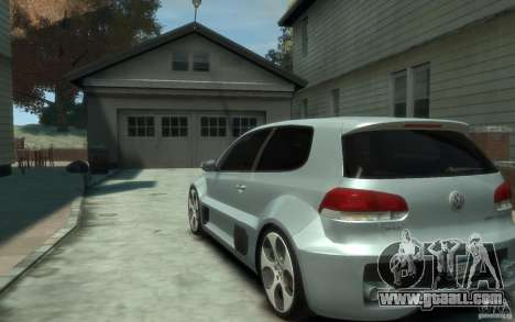 Volkswagen Golf W12-650 for GTA 4 back left view
