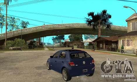 Volkswagen Gol Trend 1.6 for GTA San Andreas back left view