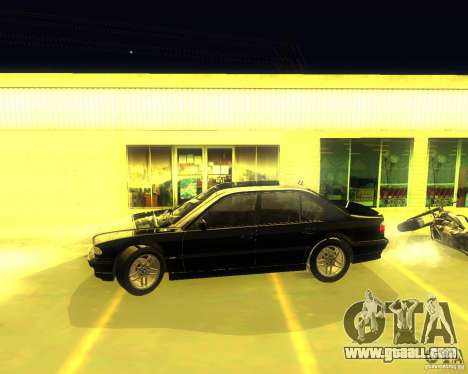 BMW 750i e38 2001 M-Packet for GTA San Andreas back left view