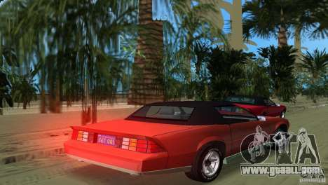 Chevrolet Camaro Convertible 1986 for GTA Vice City left view