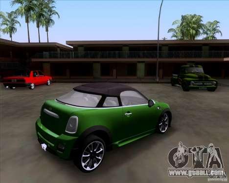 Mini Cooper Concept v1 2010 for GTA San Andreas left view