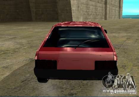 Vaz 2109 chrome for GTA San Andreas back left view