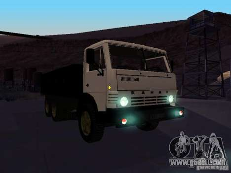 KAMAZ 53212 open for GTA San Andreas back view