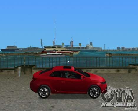 Kia Forte Coupe for GTA Vice City right view