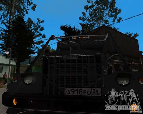 KrAZ 255 + trailer artict2 for GTA San Andreas back left view