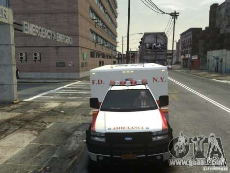 Ford F-350 Ambulance FDNY for GTA 4 inner view