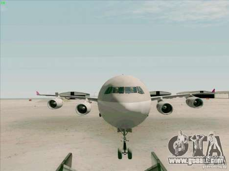 Airbus A-340-600 Quatar for GTA San Andreas inner view