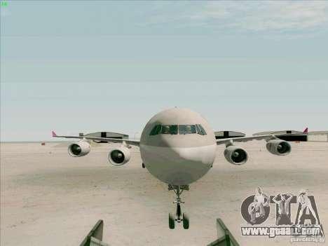 Airbus A-340-600 Quatar for GTA San Andreas inner view