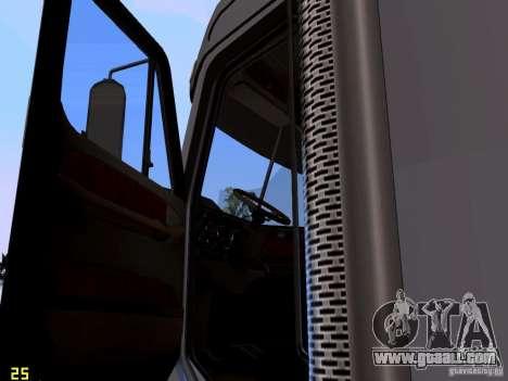 Freightliner Coronado for GTA San Andreas inner view