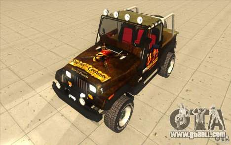 Jeep Wrangler 4.0 Fury 1986 for GTA San Andreas right view
