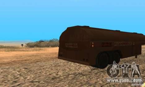 Trailer Duel Peterbilt for GTA San Andreas back left view