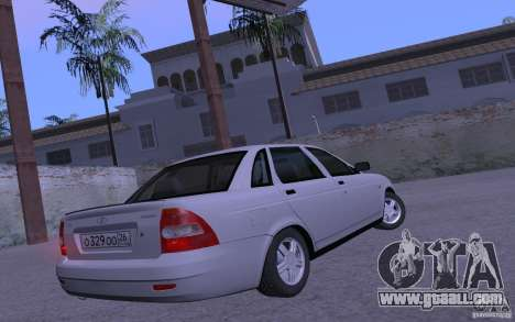 LADA 2170 Priora Pnevmo for GTA San Andreas back left view