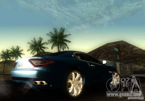 Maserati Gran Turismo for GTA San Andreas back left view