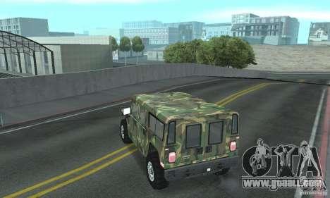 Hummer H1 for GTA San Andreas wheels