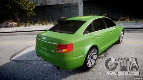 Audi A6 TDI 3.0 for GTA 4 bottom view