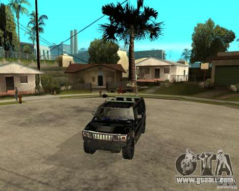 FBI Hummer H2 for GTA San Andreas side view