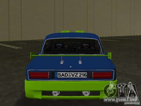 VAZ 2106 Tuning v3.0 for GTA Vice City back view
