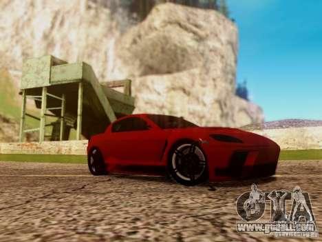 Mazda RX8 Reventon for GTA San Andreas back left view