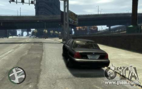 Crown Victoria for GTA 4 back left view
