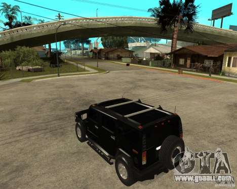 AMG H2 HUMMER SUV FBI for GTA San Andreas left view