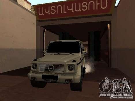 Mercedes-Benz G500 Kromma 1480 for GTA San Andreas inner view
