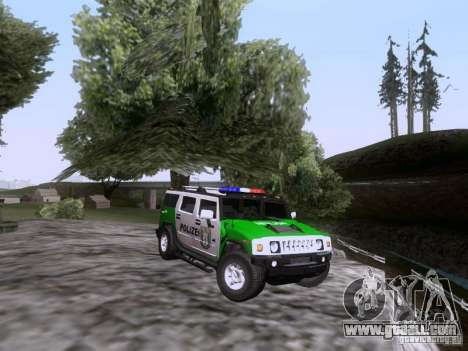 Hummer H2 Polizei for GTA San Andreas