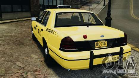 Ford Crown Victoria NYC Taxi 2004 for GTA 4 back left view