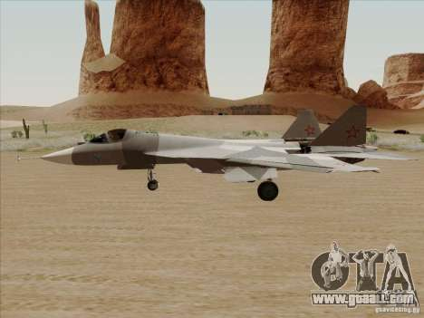 T-50 Pak Fa for GTA San Andreas left view