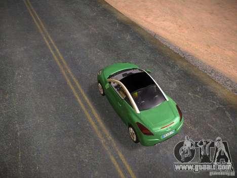 Peugeot RCZ 2010 for GTA San Andreas back left view