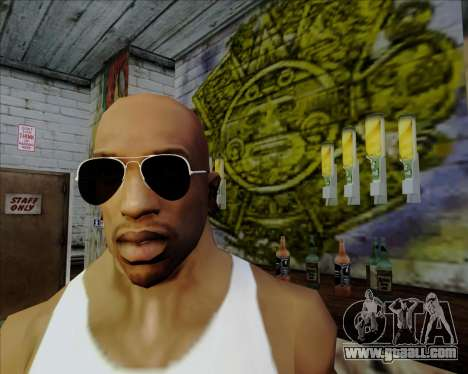 Black Aviator sunglasses for GTA San Andreas