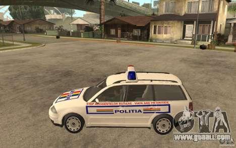 VW Passat B5+ Variant Politia Romana for GTA San Andreas left view