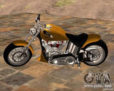 Race chopper by DMC for GTA San Andreas left view