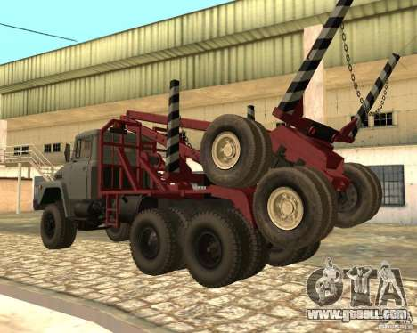 KrAZ-255 timber carrier for GTA San Andreas left view