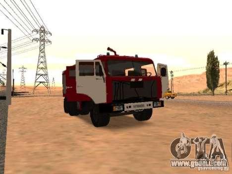 KAMAZ 53229 Firefighter for GTA San Andreas back left view