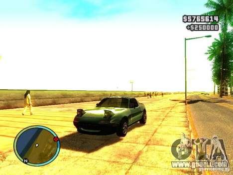 Mazda Miata 1994 for GTA San Andreas left view