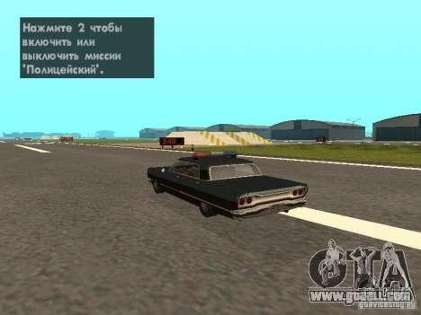 Police Savanna for GTA San Andreas left view