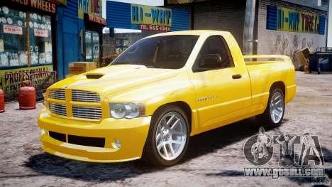 Dodge Ram SRT-10 2003 1.0 for GTA 4 back view