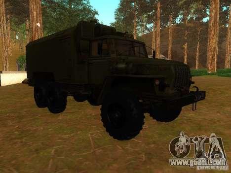 Ural 4320 Kung for GTA San Andreas inner view