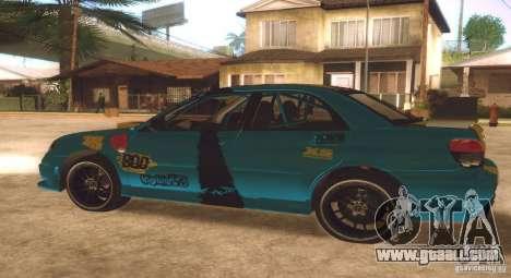 Subaru Impreza WRX STI Futou Battle for GTA San Andreas back view