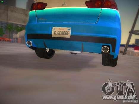 Mitsubishi Lancer Evo X Tunable for GTA San Andreas interior