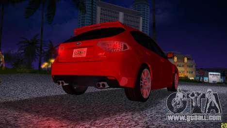 Subaru Impreza WRX STI (GRB) - LHD for GTA Vice City right view