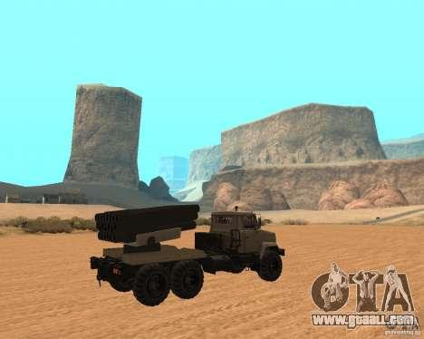KrAZ-63211 JAMZ v. 1 for GTA San Andreas right view