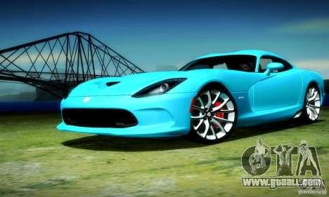 Dodge Viper SRT  GTS for GTA San Andreas back view