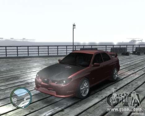 Subaru Impreza WRX STI 2006 for GTA 4 left view