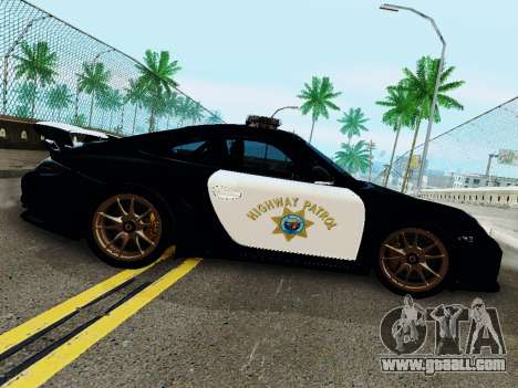 Porsche 911 GT2 RS (997) Police for GTA San Andreas back left view