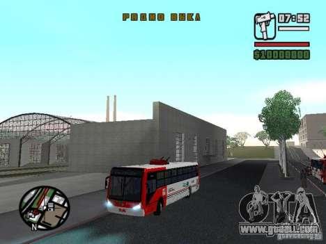 Caio Millennium TroleBus for GTA San Andreas side view