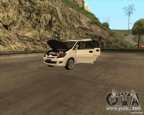 Toyota Innova for GTA San Andreas side view