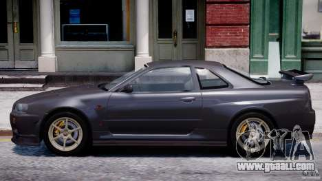 Nissan Skyline GT-R 34 V-Spec for GTA 4 back left view